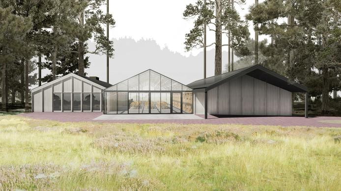 Het ontwerp voor het informatiecentrum Het Leesten