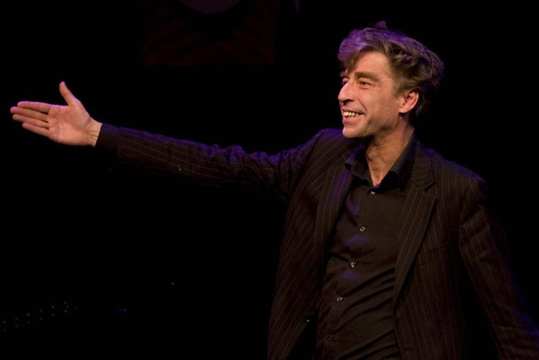 Maarten van Roozendaal ontvangt zondag in De Kleine Komedie de Poelifinario 2008, de cabaretprijs voor de theatermaker met het meest indrukwekkende programma van het seizoen. Foto ANP/Valerie Kuypers Beeld
