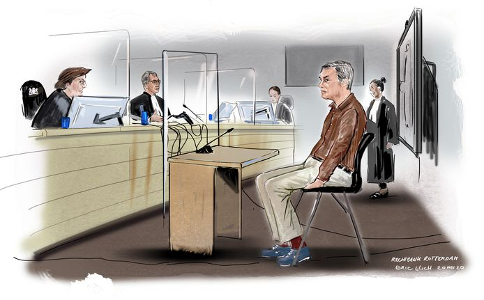 Michiel R. bij de rechtbank in Rotterdam