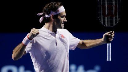 Federer blijft op koers voor nieuwe triomf in Bazel - Nishikori en Anderson spelen eindstrijd in Wenen