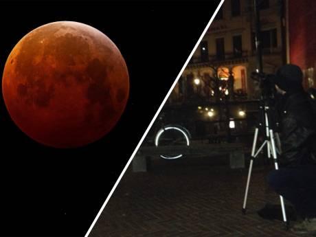 Superbloedmaan trekt fotografen naar Oudegracht