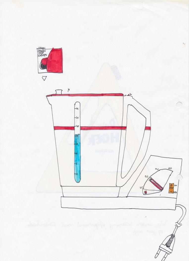 Ontwerp van een waterkoker voor Kortman-Intradel. Beeld Sebas van den Brink