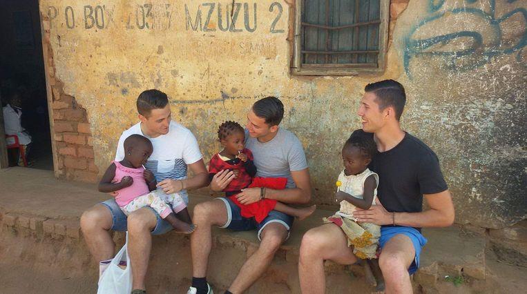 Gilles, Younes en Camille in Malawi