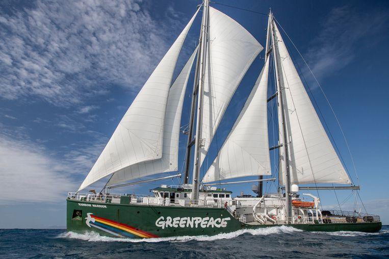 De Rainbow Warrior in Australië.