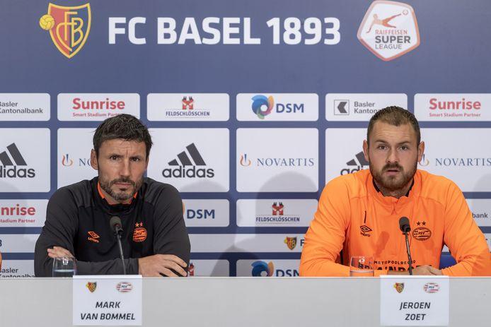 Mark van Bommel en Jeroen Zoet eerder dit seizoen aan elkaars zijde.