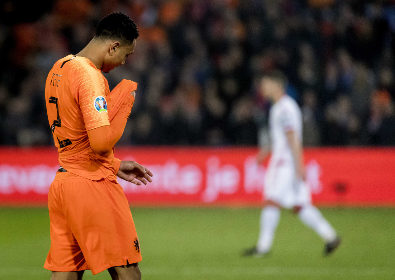 2019-03-21 22:11:48 ROTTERDAM - Kenny Tete van het Nederlands elftal tijdens de EK Kwalificatie wedstrijd tussen Nederland en Wit-Rusland. ANP KOEN VAN WEEL