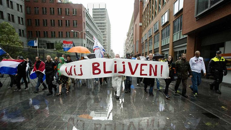 Demonstratie in Den Haag. Beeld anp