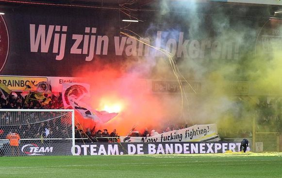De fans van Sporting Lokeren blijven ook in moeilijke tijden achter hun club staan.