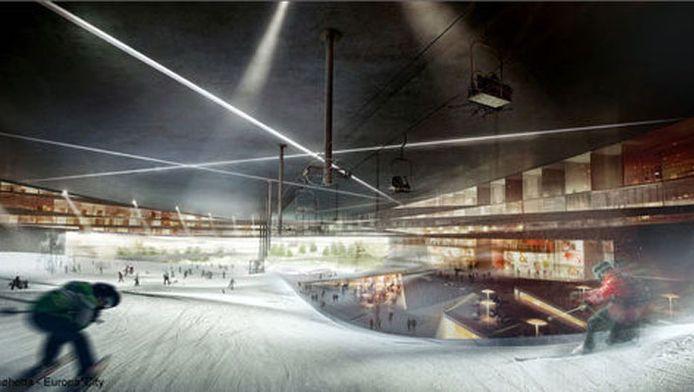 Parmi les différents centres de loisirs imaginés, Europa City comptera un parc des neiges indoor.