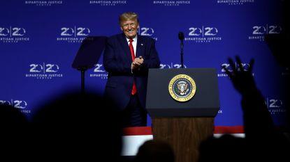 Trump hield toespraak op hogeschool, maar studenten moesten in hun kamer blijven