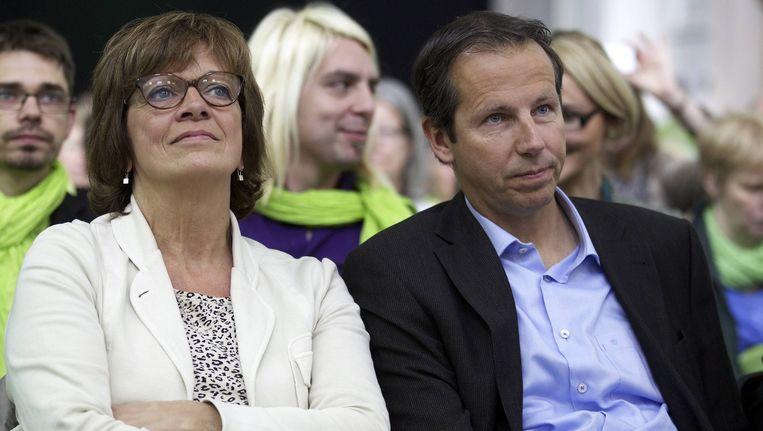 Jean-Michel Javaux (rechts) en Isabelle Durant van Ecolo.
