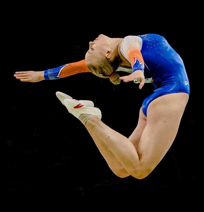Lieke Wevers In actie tijdens de Olympische Spelen in Rio de Janeiro.