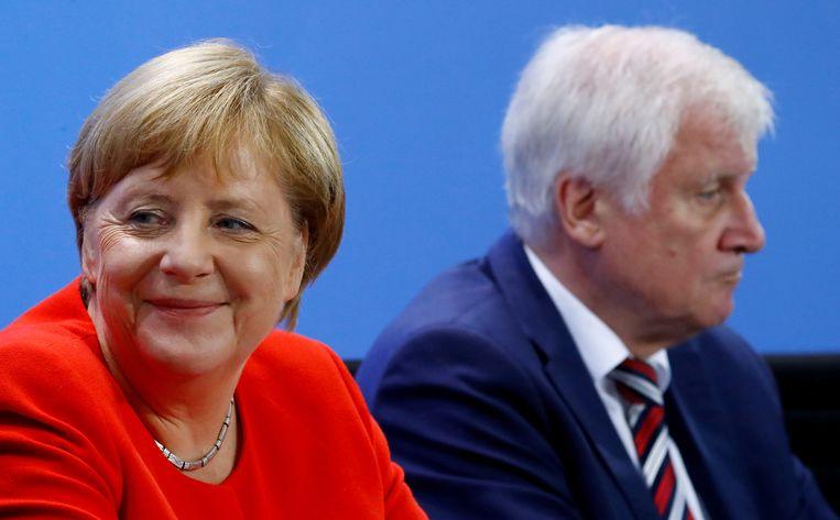 Bondskanselier Angela Merkel en minister van Binnenlandse Zaken Horst Seehofer.