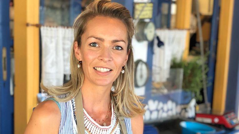 Lisa Michiels (38), eigenares van een visrestaurant op Kreta (Griekenland).
