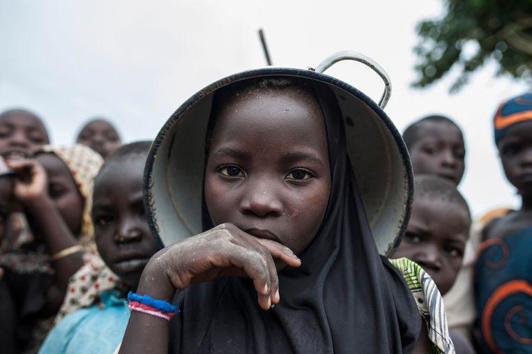 Kinderen in een vluchtelingenkamp in Nigeria.