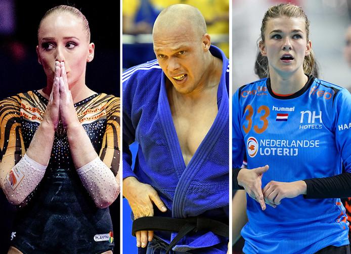 Vlnr: Sanne Wevers, Henk Grol en Tess Wester.