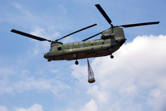 Een Chinooks op vliegbasis Gilze-Rijen.