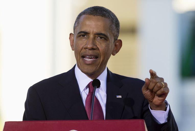 De Amerikaanse president Barack Obama Beeld null