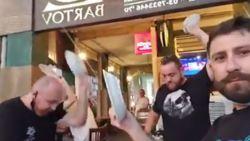 Israëlische restaurantuitbaters gooien borden aan diggelen uit protest tegen nieuwe lockdown