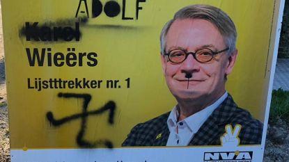 Vandalisme aan verkiezingsborden N-VA