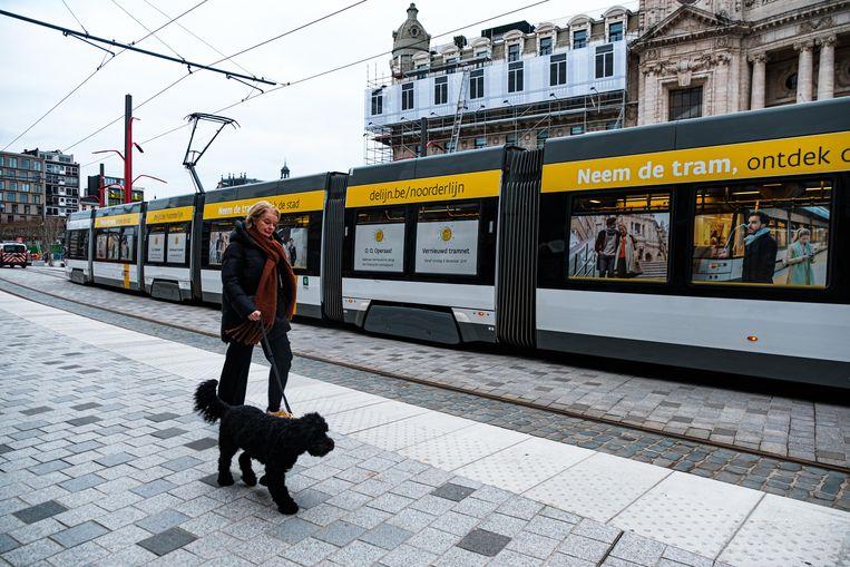 Opening van de nieuwe tramlein aan het Operaplein.