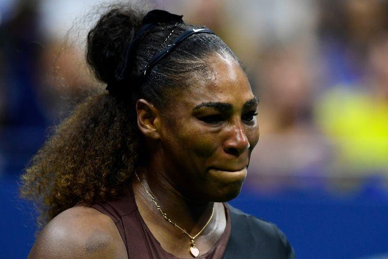 Tranen bij Serena Williams Beeld AFP
