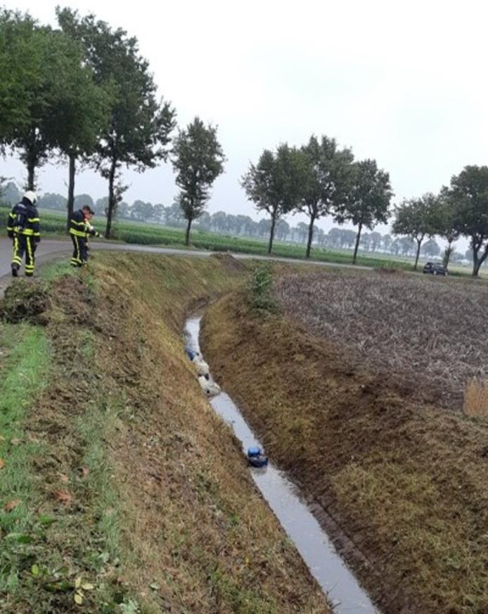 Jerrycans met drugsafval gevonden tijdens maaien in buitengebied Wouwse Plantage