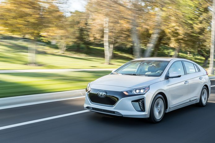 De elektrische Hyundai Ioniq, ook verkrijgbaar als 'gewone' en plug-in hybride.