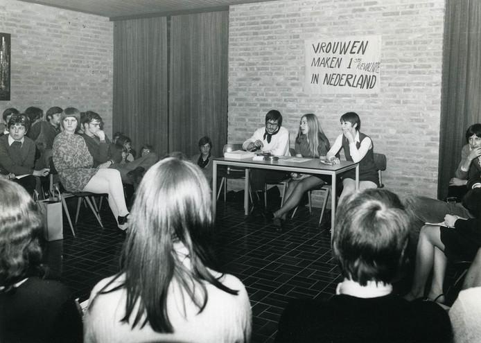 Brave bijeenkomst van 'revolutionaire' Osse vrouwen in februari 1970.