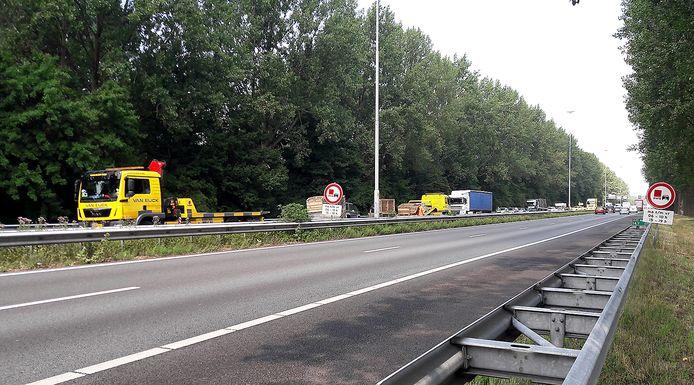 De A27 bij Oosterhout.