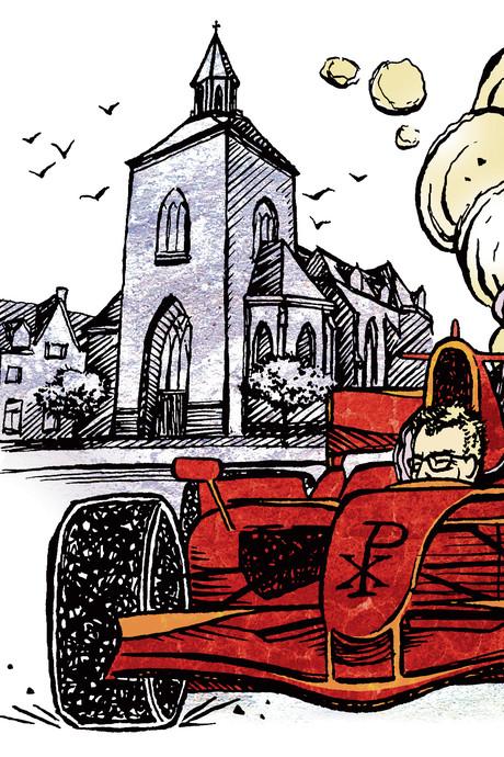 Parochie in Twente wil niet dat pastoor als Max Verstappen van kerk naar kerk sjeest
