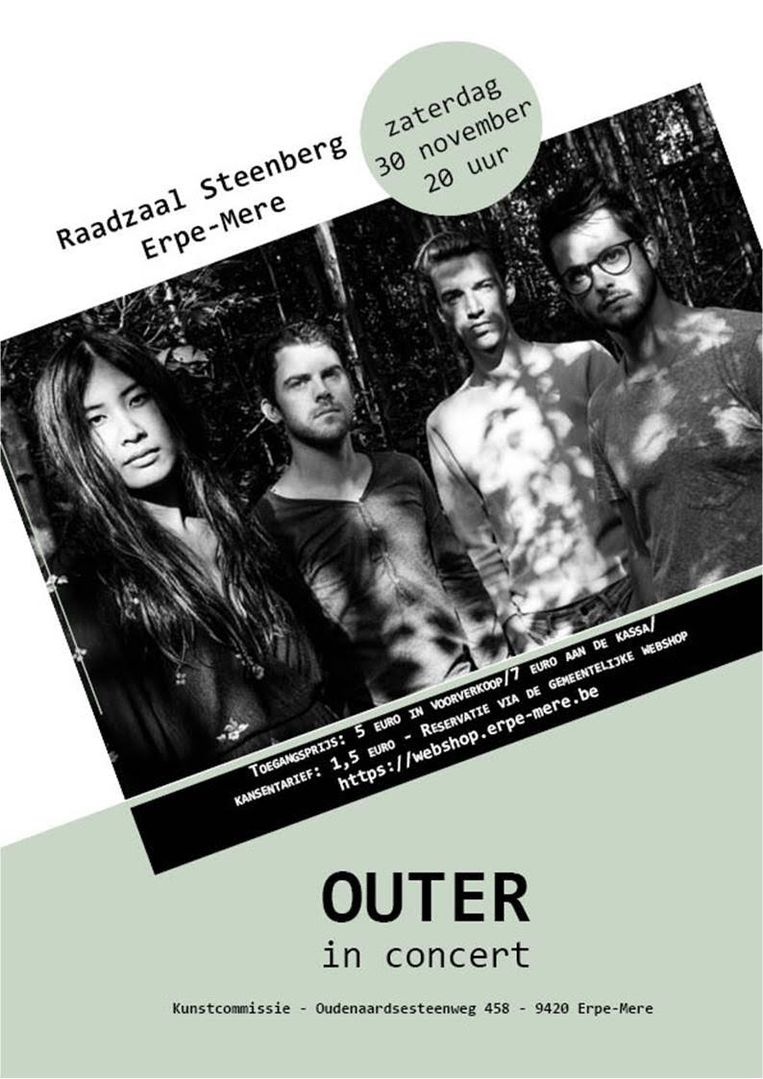 Affiche 'Outer in concert'.