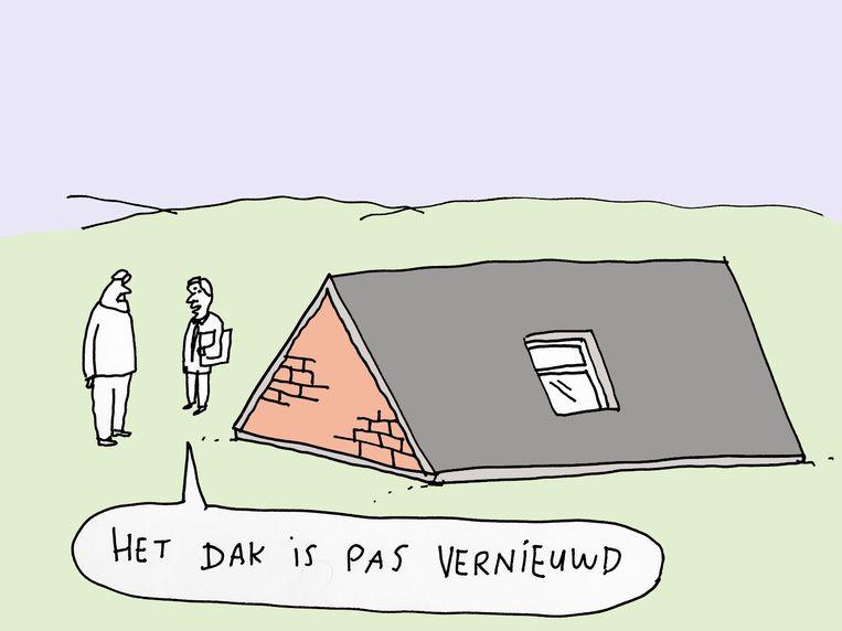 Twintig jaar geleden deden  veel makelaars smalend over Immoweb: 'Een huis aanbieden op het internet? Niet zeveren, hè!' Beeld Kamagurka