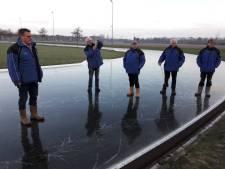 IJsbaan Puttershoek gaat weer onder water