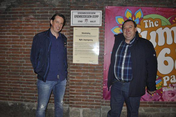 Gert Cardon en Steven Van Vaerenbergh van dekenij Dorp en dekenij Hogeweg.
