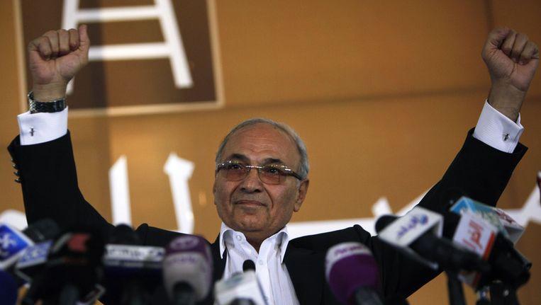 De Egyptische presidentskandidaat Ahmed Shafiq, foto van 14 juni Beeld ap