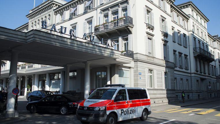 Het hotel waar de FIFA-officials vanmorgen vroeg werden opgepakt. Beeld ap