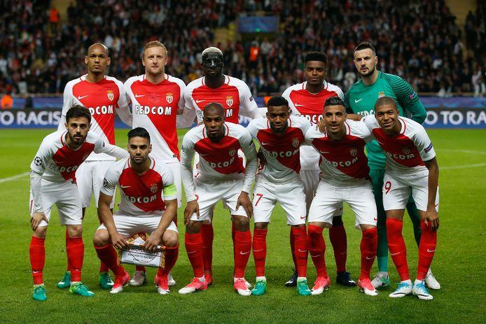 De basiself van AS Monaco voor de halve finale van de Champions League tegen Juventus in 2017. Het seizoen erop wordt Monaco kansloos uitgeschakeld in de poulefase.