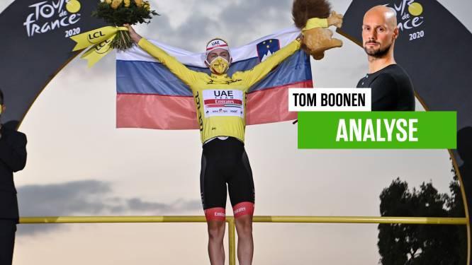 """Ook huisanalist Tom Boonen werd door Tadej Pogacar van zijn sokken geblazen: """"Hij is van een andere planeet"""""""