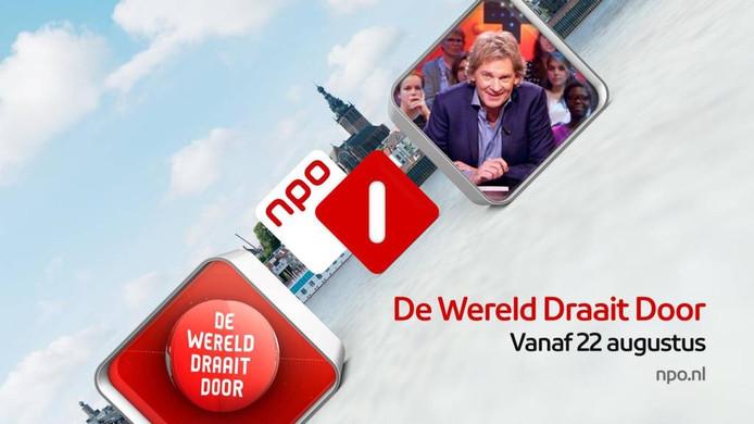 De skyline van Nijmegen achter de aankondiging van het nieuwe seizoen DWDD.