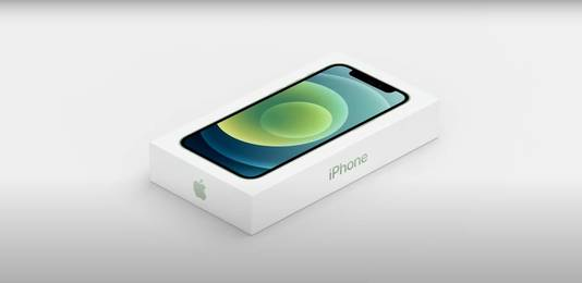 De verpakking van de nieuwe iPhone 12.