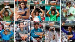 IN BEELD: De elf eindzeges van Rafael Nadal op 'zijn' Roland Garros