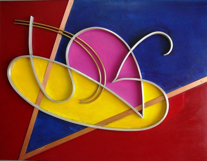 Geometrisch abstracte schilderijen van Herman Kruis in Panorama van Kalorama.