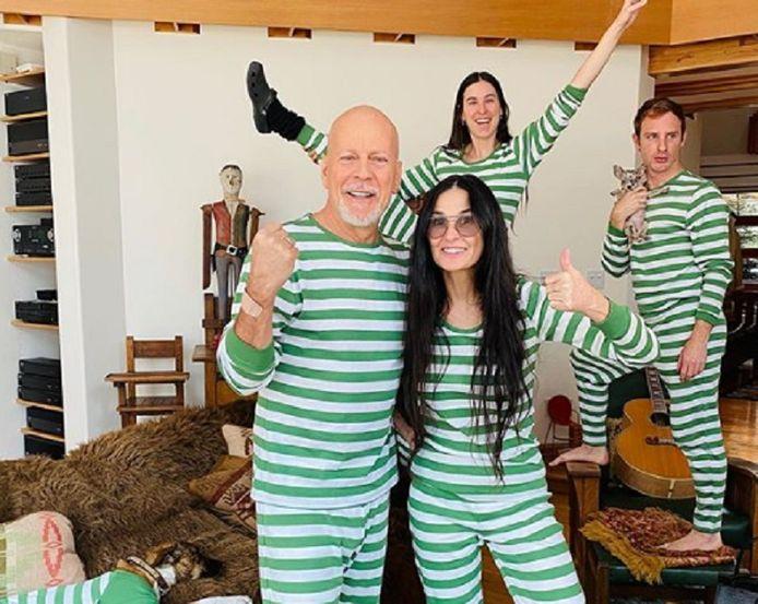 Demi Moore et Bruce Willis sont confinés ensemble.