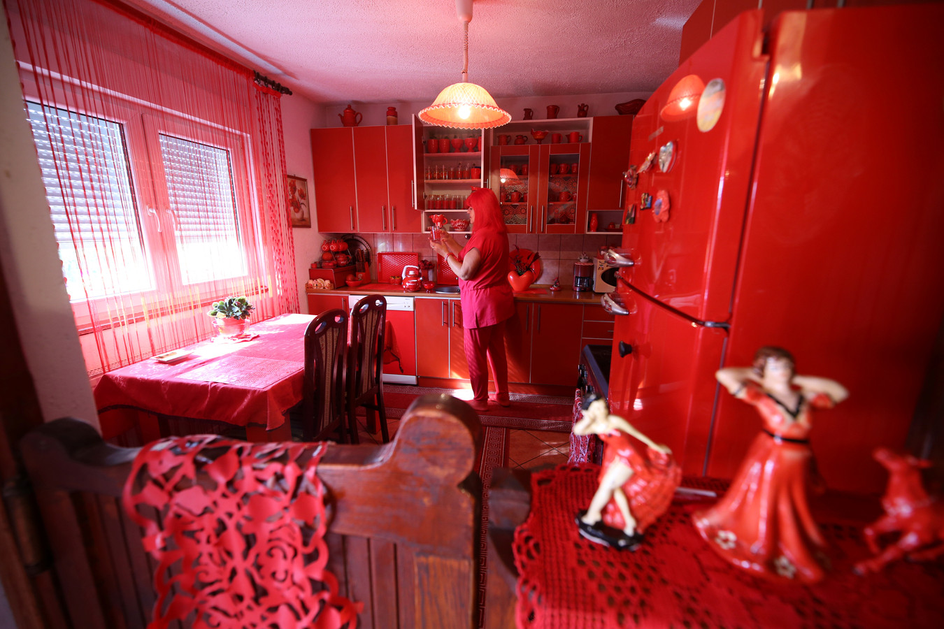 Zorica in haar keuken