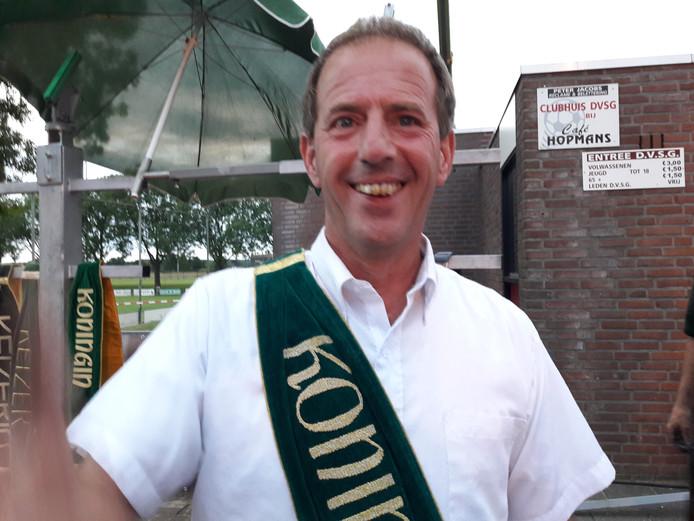 André Jansen, de nieuwe koning van schutterij St. Hubertus.  Foto Joop Verstraaten