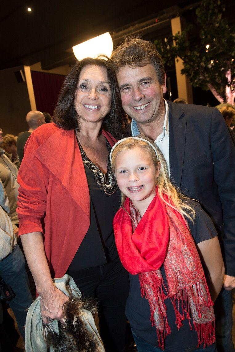 Wendy Van Wanten met Frans en Estelle eerder dit jaar.