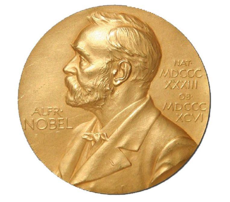 De medaille van de Nobelprijs. Beeld Theo Audena000