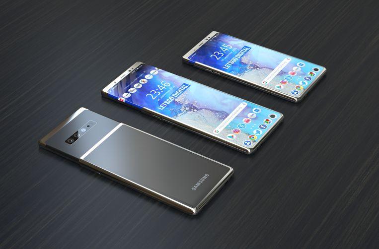 Zo zou de Samsung Galaxy S11 Plus er uit kunnen gaan zien, speculeren Forbes en Lets Go Digital. Beeld Lets Go Digital