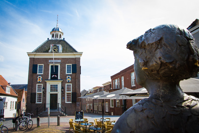 Het stadhuis van Nieuwpoort.